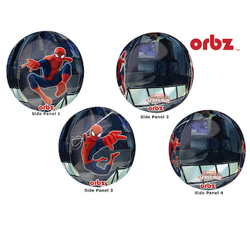 Spiderman 4 Sided Orbz Balloon