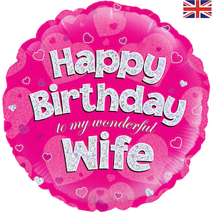 Happy Birthday Wife Foil Balloon