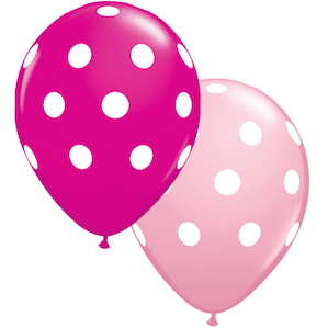 Pink and Purple Big Polka Dot Balloons