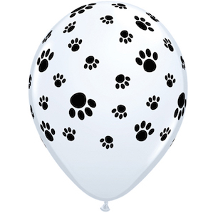 Latex Paw Prints Balloon