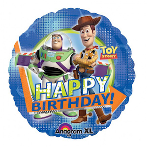 Toy Story Happy Birthday Round Foil Balloon