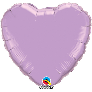 Lavender Heart Shaped Foil Balloon