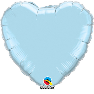 Light Blue Heart Shaped balloon Foil Balloon