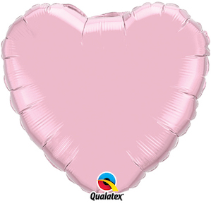 Pink Heart Shaped Foil Balloon
