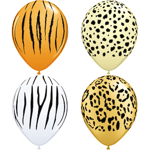 4 Safari Themed Latex Balloon
