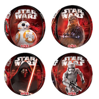 Star Wars 4 Sided Orbz Balloon