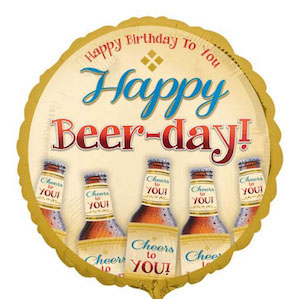 Happy Beerday Large Round Foil Balloon