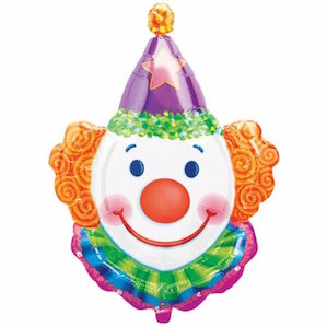 Smiley Clown's Head Shaped Foil Balloon