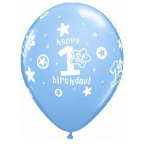 First Birthday Stars Boys Balloon
