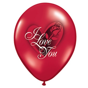 I Love You Red Rose Balloon