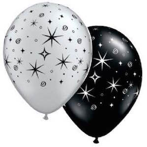 Black and Silver Printed Balloon