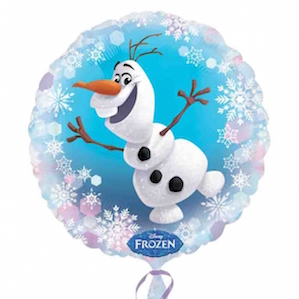 Large Round Olaf from Disney's frozen Foil Balloon