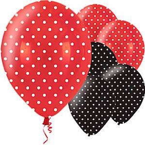 Black and Red Ladybug Balloons