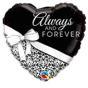 Always and Forever Heart Foil Balloon