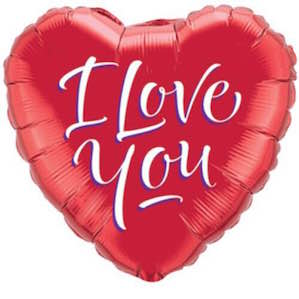 Red I Love You Heart Foil Balloon