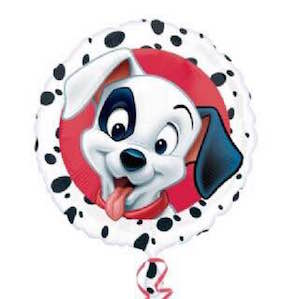 Large Round Foil Balloon with Printed Dog