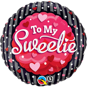 To My Sweetie  Foil Balloon