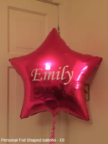 Foil Shaped Balloon - £8