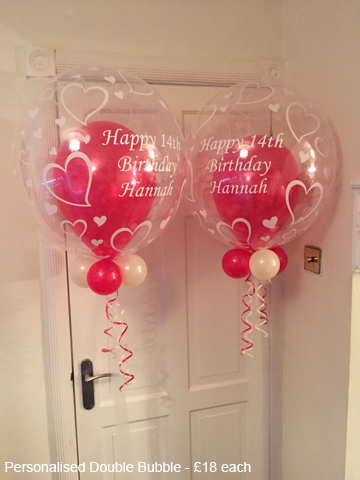 Personalised Double Bubble - £18 each