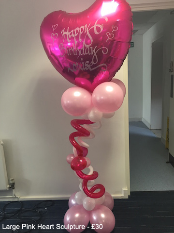 Large pink heart sulpture - £30