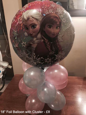 18 Foil Balloon with cluster - £8.00