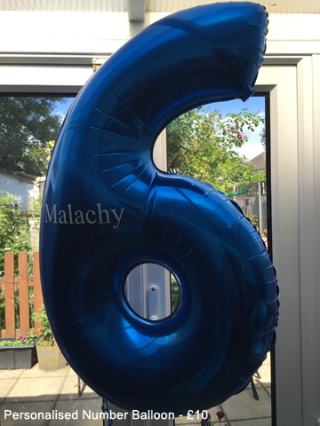 Personalised Number balloon - £10.00
