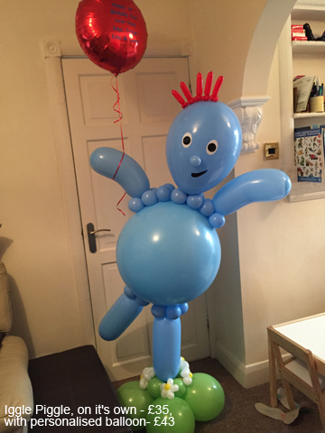 lIggle Piggle - £35, with personalised balloon - £43