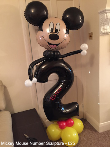 Mickey Mouse Number Sculpture - £25
