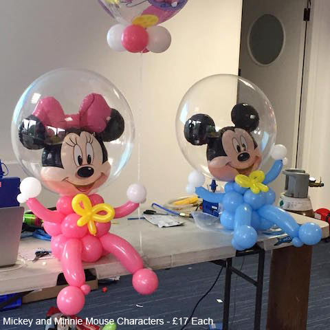 Mickey and Minnie Mouse Characters - £17 Each