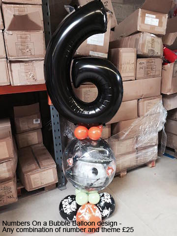 Numbers on a Bubble Balloon - Any Combination of number and theme - £20