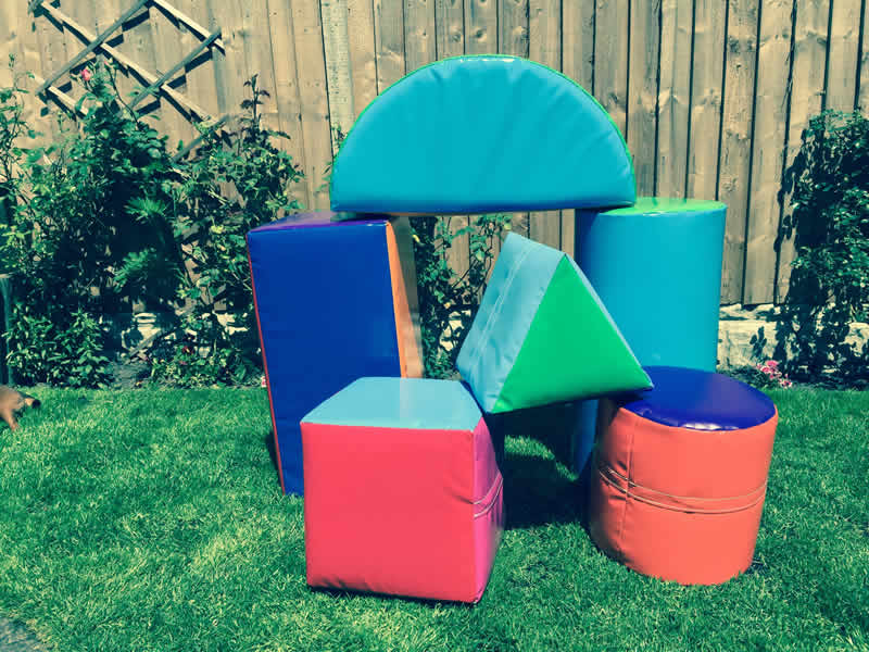 6 Soft Play Shapes. 1-3 years