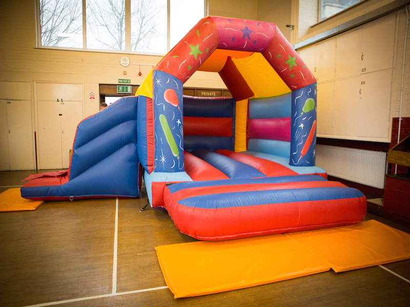 Bouncy Castle with Slide 17 x 15. Add on for £75 or rent separately for £85 per day.