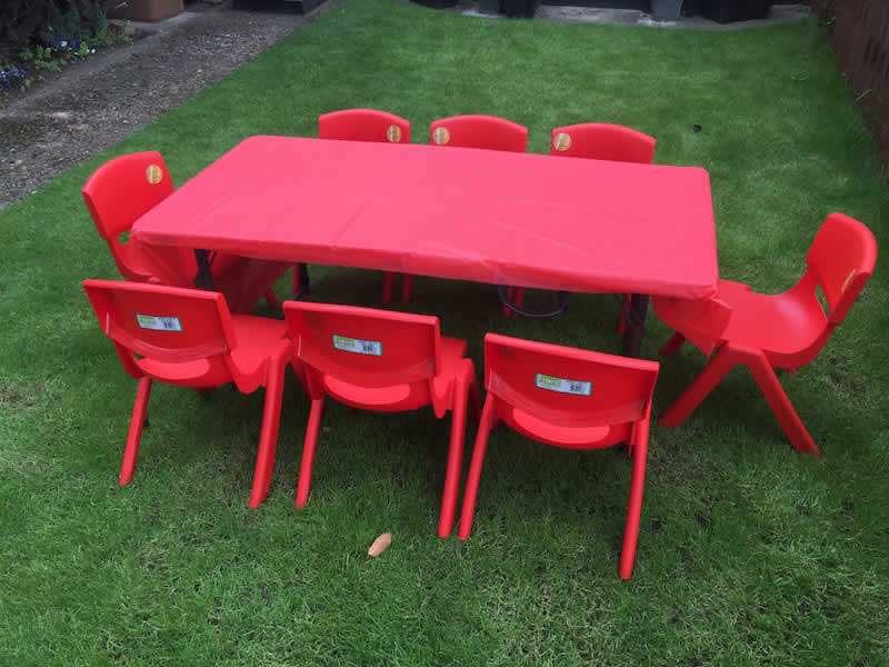 Table and Chairs. Table £5.00 Chairs £1.50