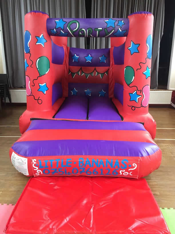 Toddler Castle 8 x 11 (only 7 foot tall so ideal for low ceiling venues). Add on for £55 or rent separately for £65.